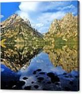 Grand Teton Mirror Canvas Print