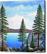 Granite Boulders Lake Tahoe Canvas Print
