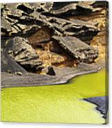 Green Lagoon On Lanzarote Canvas Print