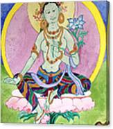 Green Tara 13 Canvas Print