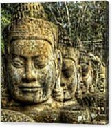 Guardians Of Angkor Thom Canvas Print