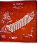 Hammock Patent Drawing From 1895 Canvas Print