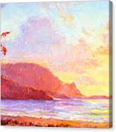 Hanalei Sunset Canvas Print