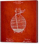 Hand Grenade Patent Drawing From 1884 Canvas Print