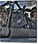 Hdr Image Of Pilots Equipped Canvas Print