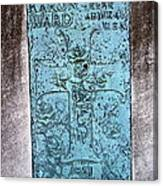 Headstone Abstract Canvas Print
