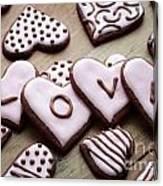 Heart Cookies Canvas Print