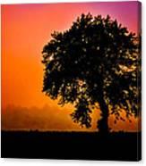 Heart Set Silhouette Canvas Print