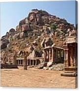 Hindu Ruins At Hampi Canvas Print