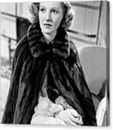 History Is Made At Night, Jean Arthur Canvas Print