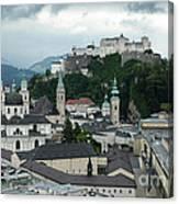 Hohensalzburg Castle In Salzburg Austria Canvas Print