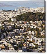 Homes Of San Francisco Canvas Print