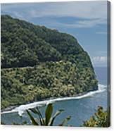 Honomanu - Highway To Heaven - Road To Hana Maui Hawaii Canvas Print