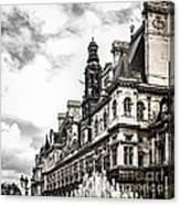 Hotel De Ville In Paris Canvas Print