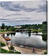 Hoyt Lake Delaware Park 0004 Canvas Print