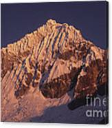 Mt Huandoy Sunrise Peru Canvas Print
