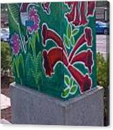 Hummingbird Traffic Signal Box Canvas Print