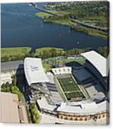 Husky Stadium At The University Canvas Print