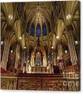 Inside St Patricks Cathedral New York City Canvas Print