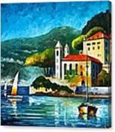 Italy Lake Como Villa Balbianello Canvas Print