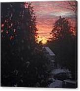 January Sunrise From Civill Avenue Canvas Print