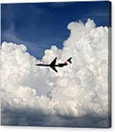 Jetliner And Clouds Canvas Print