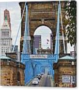 John Roebling Bridge 1867 Canvas Print