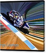 Jorge Lorenzo Canvas Print