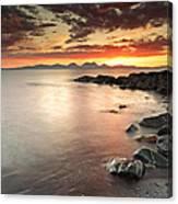 Jura Sunset Canvas Print