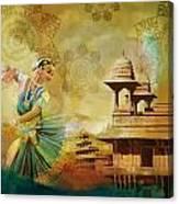 Kathak Dancer Canvas Print