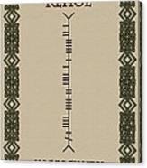 Kehoe Written In Ogham Canvas Print