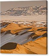 Khongor Sand Dunes In Winter Gobi Desert Canvas Print