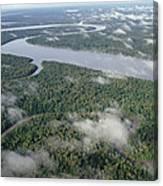 Kikori River In The Rainforest Kikori Canvas Print
