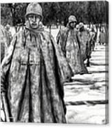 Korean War Memorial Washington Dc Canvas Print