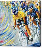 Pro Bike Racing Paris Canvas Print