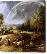 Landscape With A Rainbow Canvas Print