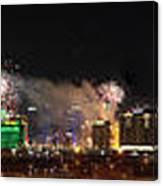 Las Vegas Fireworks Canvas Print