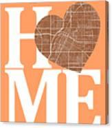 Las Vegas Street Map Home Heart - Las Vegas Nevada Road Map In A Canvas Print