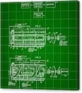 Laser Patent 1958 - Green Canvas Print