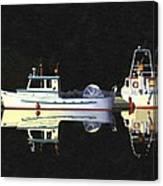 Last Light  Island Moorage Canvas Print