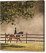 Last Ride Of The Day Canvas Print