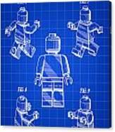 Lego Figure Patent 1979 - Blue Canvas Print