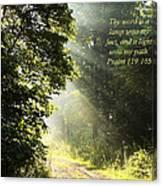Light Unto My Path Canvas Print