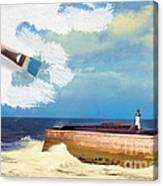 Lighthouse At Whitehaven Canvas Print