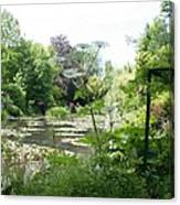 Lily Pond In Monets Garden Canvas Print