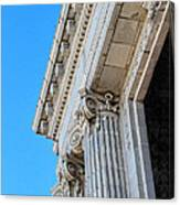 Lincoln County Courthouse Columns Looking Up 02 Canvas Print