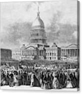 Lincoln Inauguration, 1865 Canvas Print