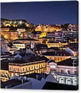 Lisbon Downtown Canvas Print