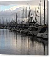 Long Beach Marina  Canvas Print