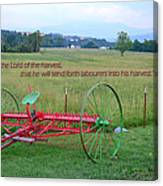 Lord Of The Harvest Canvas Print